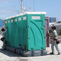 2017年 小名浜花火大会仮設トイレ電源設置工事